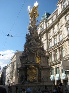 Monument to the Plague victims built to appease God and spare the remaining citizens of Vienna