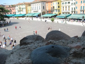 view from the Roman arena - some of the nice pastels we saw