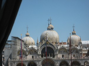 the view from the cafe where we ate lunch - Basilica of Saint Mark