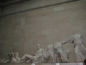 Statues from the Parthenon in Athens