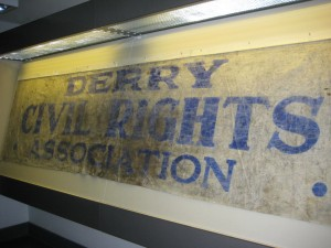 This same banner is on display in the museum - a reminder of the slaughter of 13 innocents that bloody Sunday.