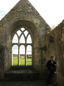 Reading nook at the Ross Errily Friary