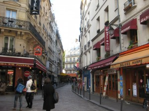 Latin Quarter - in an area not yet robbed of cobblestone...