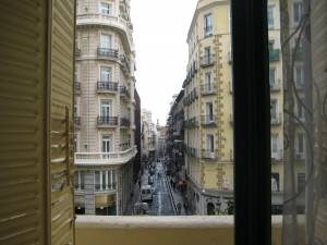 view from our balcony - the friendly prostitutes usually work right below this window