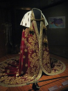 coronation cloak...yes, I believe this means it was worn just once...