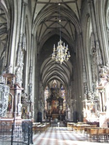 Gothic interior of St. Stephen's cathedral