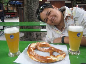 Beer and Pretzel... How Bavarian