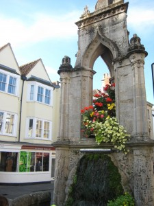 Fountain in Wells town square