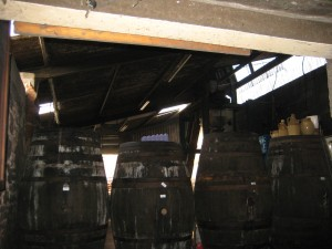 Huge barrels of dry and sweet cider