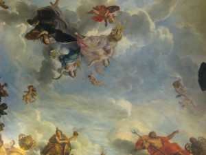 Stunning ceiling art... even better than the Sistine Chapel methinks
